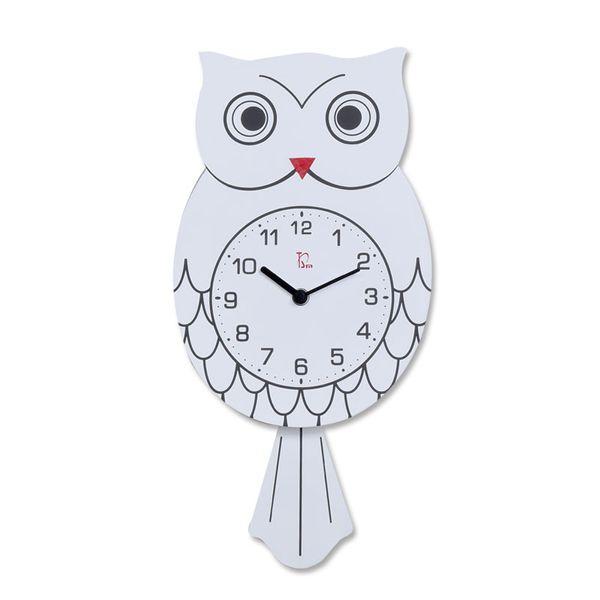 Wooden Pendulum Clock Cute Vintage Owl Clock Wall Watch Watches Kids Wall Modern Design Wandklok Living Room Decoration