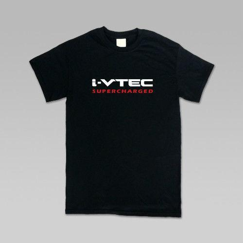 Wholesale/Acura IVtec Supercharged JDM T-Shirt, Classic and Slim Fit, S-4XL Summer Cotton T-Shirt Fashion Cheap Crew Neck Men's Top Tee