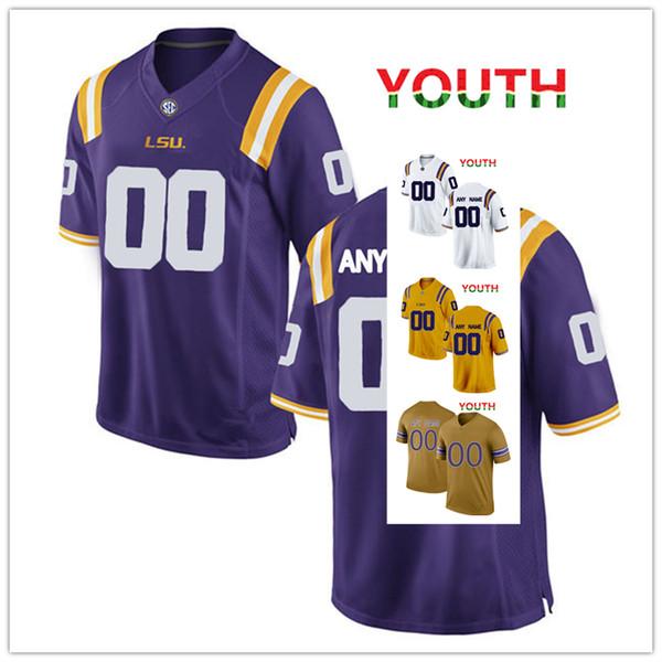 NCAA LSU Tigers jerseys Dantrieze Scott 48 Jared Small 58 Michael Divinity jersey MEN WOMEN YOUTH yellow purple White gold football jersey