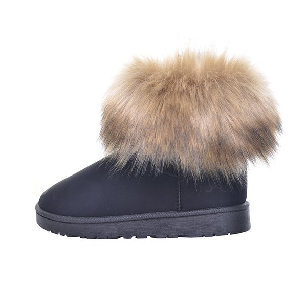 Brand Women's Shoes Thick Fur Fashion Snow Boots 2019 New Winter Cotton Warm Shoes For Women Ankle Boots XWX3265