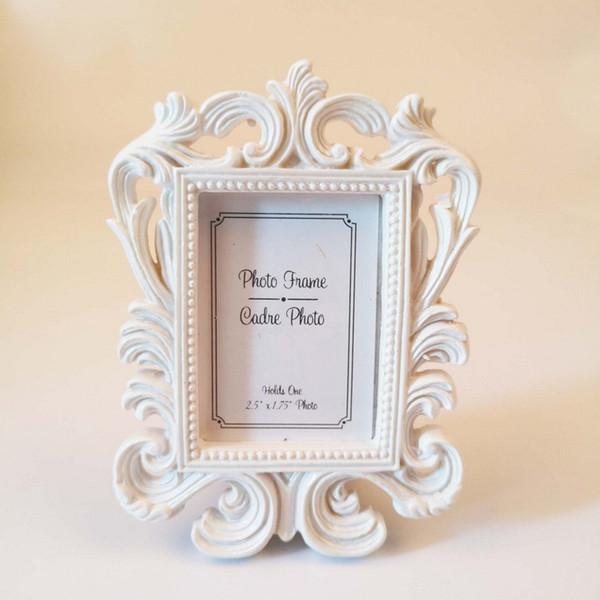 Harz Bilderrahmen Viktorianischen Stil Schwarzweiß Barock Kartenhalter Bilderrahmen Braut Hochzeit Dusche Gefälligkeiten Geschenk