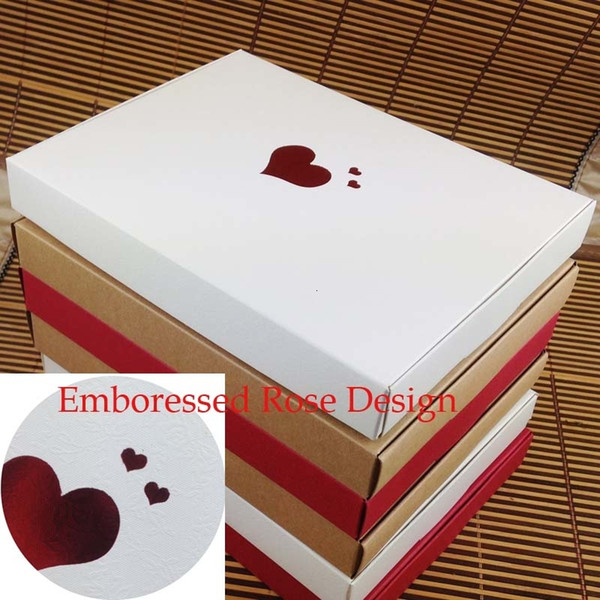 Bigger Mother Day Gift Box 10pcs 20*2.5*15cm Wedding Favour Box Macaron Packaging Caixa Kraft Paper Boxes Jewelry Cake Gift SH190920