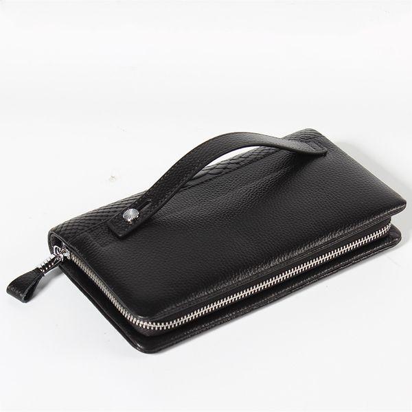 2019 Classic Black Genuine Leather Credit Card Holder Wallet Card Case for Man Fashion Thin Coin Purse Pocket Bag Wallets designer handbags