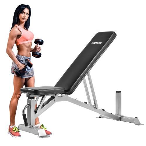 TREXM Deluxe Utility Weight Bench для тяжелой атлетики и силовых тренировок регулируемая сидячая скамейка AB наклонная тренажерное оборудование