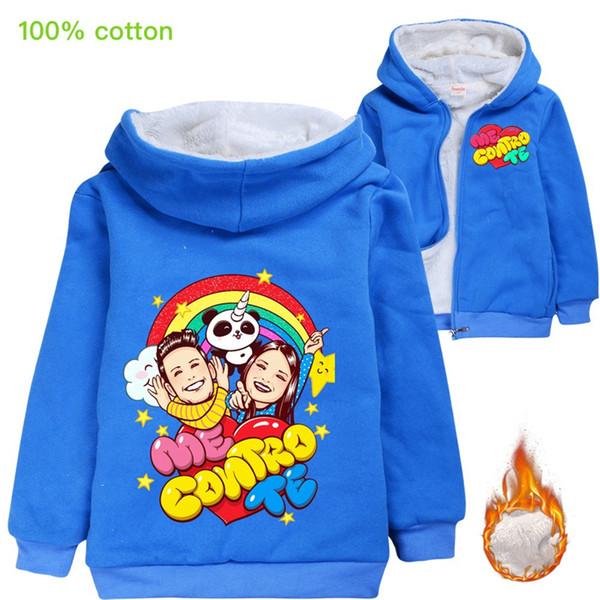 top popular me contro te Kids Warm Winnter Coats 100% Cotton 3-12T Kids Boys Girls Zipper Hoodies kids designer clothes 105CM-155CM Wholesale JJSS391 2021