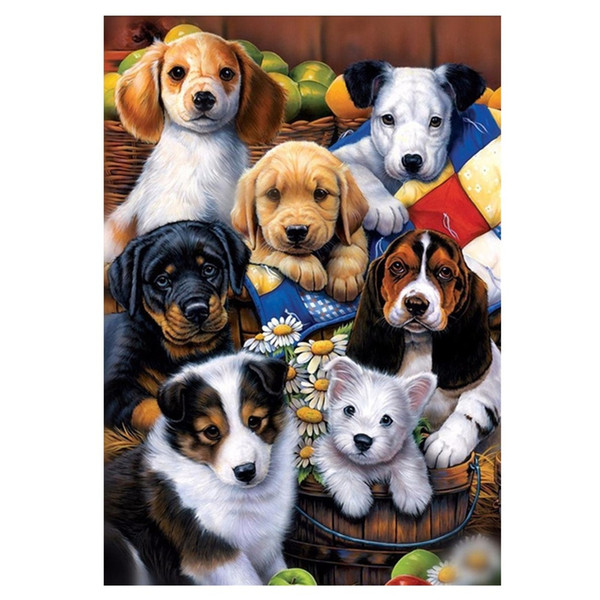 Free shipping Diamond Painting Dog Family 25 Styles Fashion DIY Embroidery 5D Diamond Painting Craft Cross Stitch Home Bedroom Decor