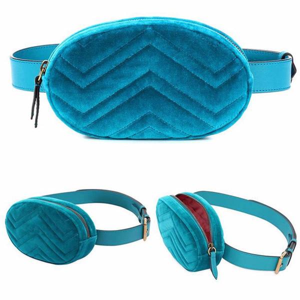 Venta al por mayor - Bolsos de cintura de cuero para mujer de nuevo estilo de moda Bolso de hebilla de metal de terciopelo Love leather women039; bolsillos, con correa de cadena, cinturón