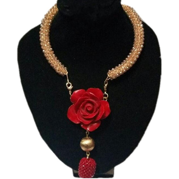 4ujewelry Fashion Dubai Necklace Jewelry Set Red Coral Beads Bridal Jewellery Set For Bridal Women Free Shipping 2018 Costume