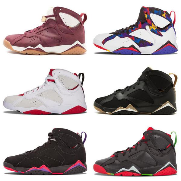 Jumpman 7 Baskets Chaussures Hommes Femmes 7s VII Pourpre UNC Bordeaux Olympique Panton Pure Money