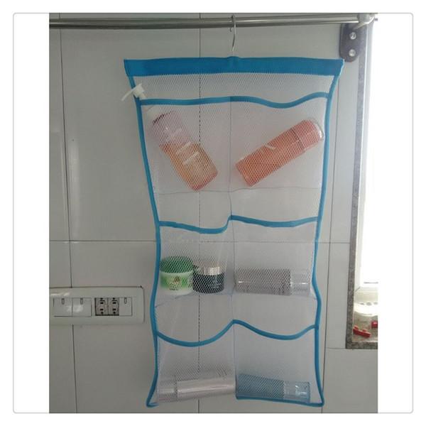 Green Mesh Bath Shower Organizer 6 Storage Pockets Hanging Caddy, Bathroom Accessories, Space Saving Toy organizer New