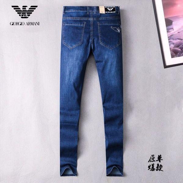 2019 новые мужские талии микро-эластичные повседневные ноги брюки бутик мужские высококачественные вымытые джинсы slim 623 58835116
