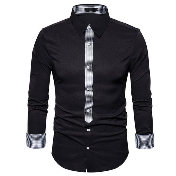 2018 New Men Shirts Business Long Sleeve Turn-down Collar 100% Cotton Male Shirt Slim Fit Popular Designs