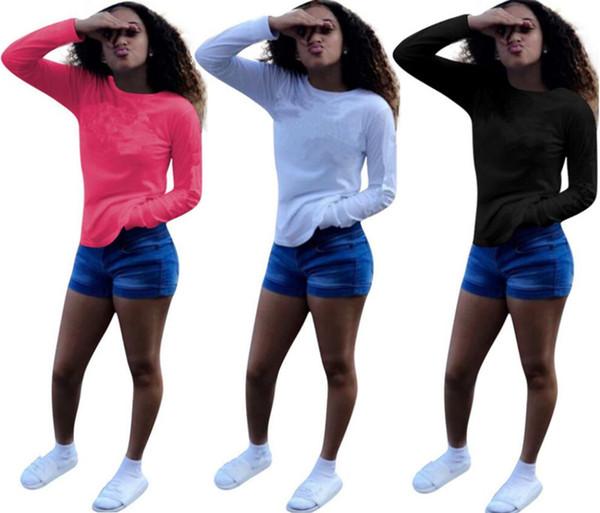 Brand Desinger women long sleeve t shirt letter winter sweatshirt fashion hoodie lady casual tops tshirt crew neck shirt cheap wholesale