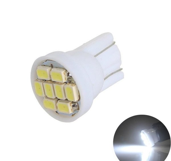 1206/3020 smd T10 8smd 8 led 194 168 192 W5W Super Bright Auto led Car Lighting Wedge Base T10 Led Bulb