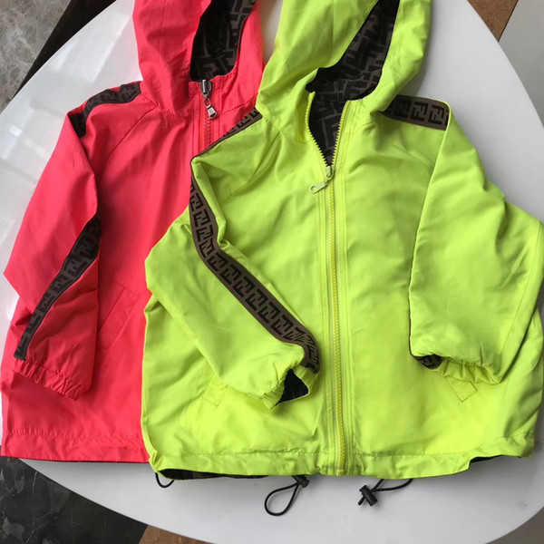 best selling Double-sided Coats Clothes Boys girls Windbreaker Kids Outerwear Children Jackets for Boy Outdoor Casual Jackets
