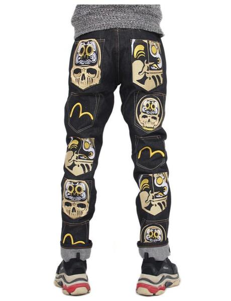 2019 Neue Mode Lässig Herren Jeans M Druck Jugend Luxus Hohe Qualität Lose Gerade Herren Trend Mens Designer Jeans Größe 28-38