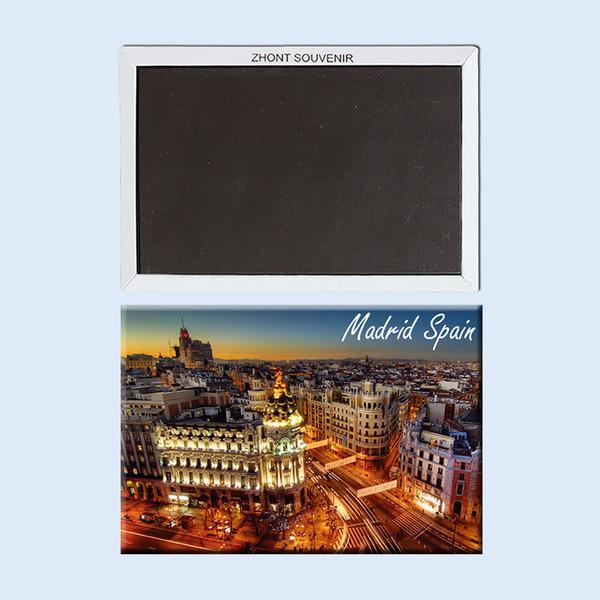Home Decor Fridge Magnets city night Madrid Spagna 22723, Souvenirs of Tourist Landscape Regali per frigorifero magnetico