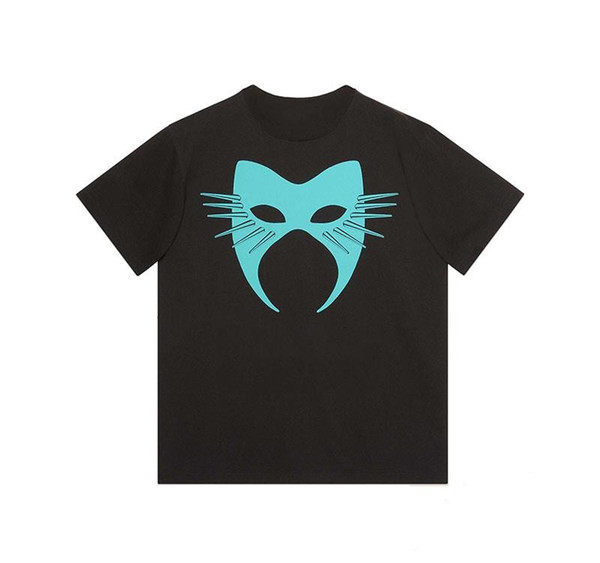 LuxuxMens Designer-T-Shirt Männer Frauen Maske Sommer-T-Shirt Hip Hop Schwarz Weiß Short Sleeve S-2XL