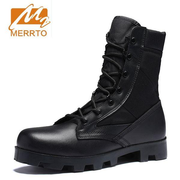 Neue Ultraleicht Männer Armee Stiefel Hight Cut Militärschuhe leder Taktische Stiefeletten Dschungel Outdoor Schuhe Plus Armee # 45063