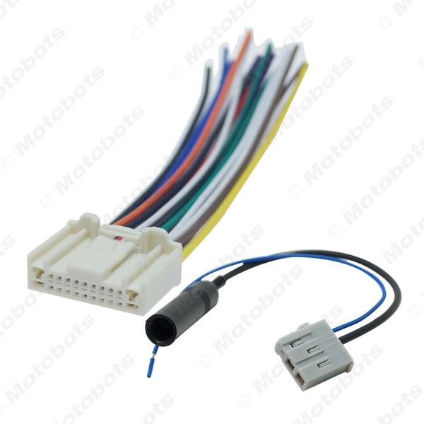 Cablaggio audio stereo per auto con spina adattatore per antenna per Nissan / Subaru / Infiniti OEM Head Unit # 1638
