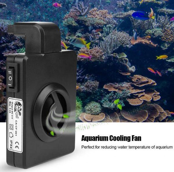 Aquarium Mini Ventilateur Refroidisseur Suspendre Refroidisseur D'eau Refroidisseur Ventilateur Réservoir D'eau réservoir d'aquarium ventilateurs de refroidissement Avec Câble 100-240V US EU Plug