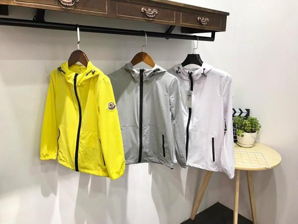 19ss bayan hoodie tasarımcı sokak seyahat cilt giyim monclers logo OEM İnce nefes güneş koruyucu iplik manşet çabuk kuruyan açık ceketler