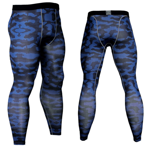Plus Size Mens Compression Tights Base Layers Sweatpants Leggings 2019 Camouflage 3d Print Fitness Pants Quick Dry Long Pants