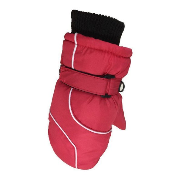 Children Winter Warm Ski Gloves Boys/girls Sports Waterproof Windproof Non-slip Snow Mittens Extended Wrist Skiing Gloves 1 Pair