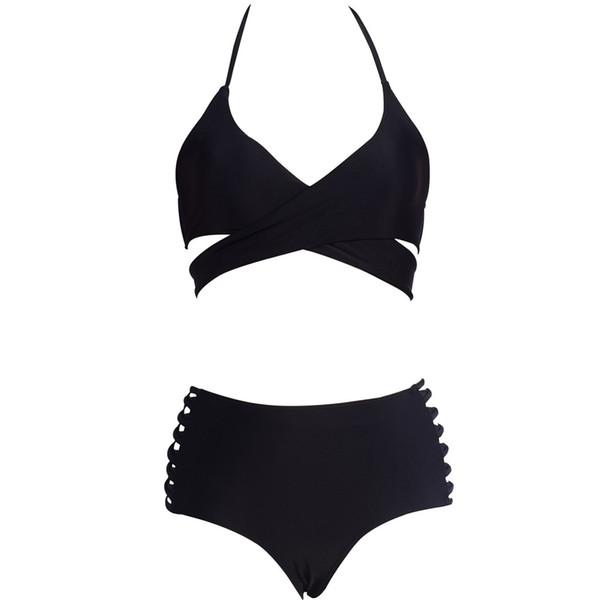 Women Bikini Set Sexy Solid Bikini Two Piece Swimsuit stroje k pielowe damskie Swimwear Bathing Beachwear maillot de bain femme