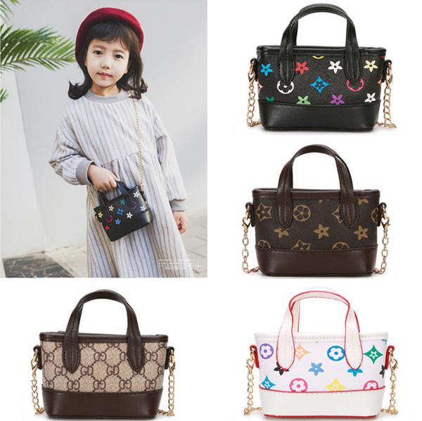 Niños bolsos de diseño 2019 venta caliente bebés niñas bolsos cruzados de moda clásico antiguo floral impreso niños mini princesa monederos niños regalos