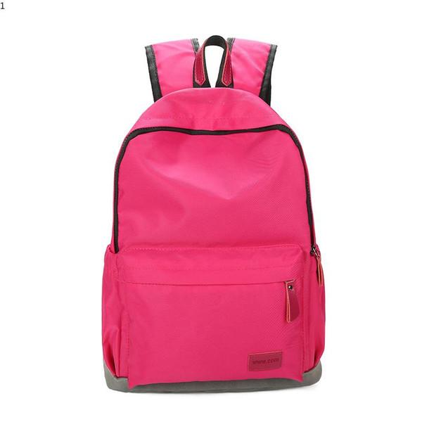 New Fashion Backpack Student School Backpack for Teenage Girl Nylon Waterproof Backbag Large Notebook Simple Backpack Travel Rucksack