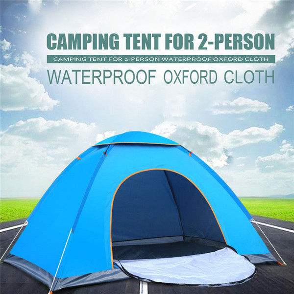Outdoor Beach Tent Double 2 Person Built Speed Open Tent Outdoor Camping Ultra Light Park Sunscreen Camping