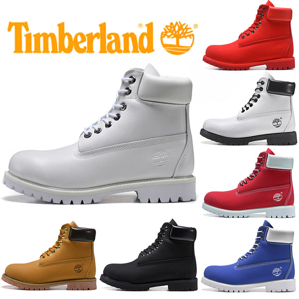 Timberland Boot For Men Women Casual Winter Boots Triple Black White Red Fashion Mens Trainer Hiking Outdoor Sneaker Size 36 45 Cowboy Boots Chelsea