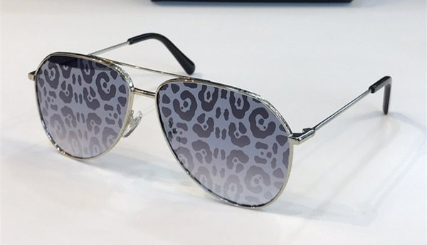 silver Leopard Print mirror lens