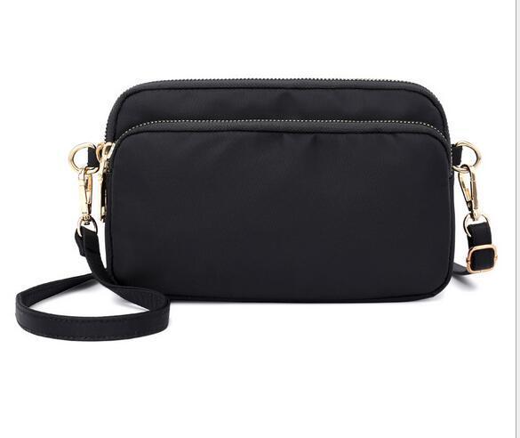 Lightweight one-shoulder slanting lady fashion hand-held small square bag Waterproof nylon cloth large capacity bag