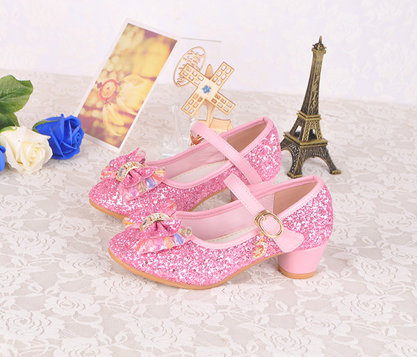 Lovely Pink Blue Gold Silver Flower Girls' Shoes Kids' Shoes Girl's Wedding Shoes Kids' Accessories SIZE 26-37 S321008