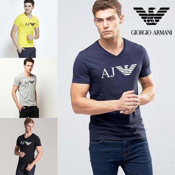 forever1123 / Sommer 2019 Mode gedruckt Kurzarm T-Shirt aus reiner Baumwolle Herren T-Shirt hochwertigem Luxus Designer T-Shirt