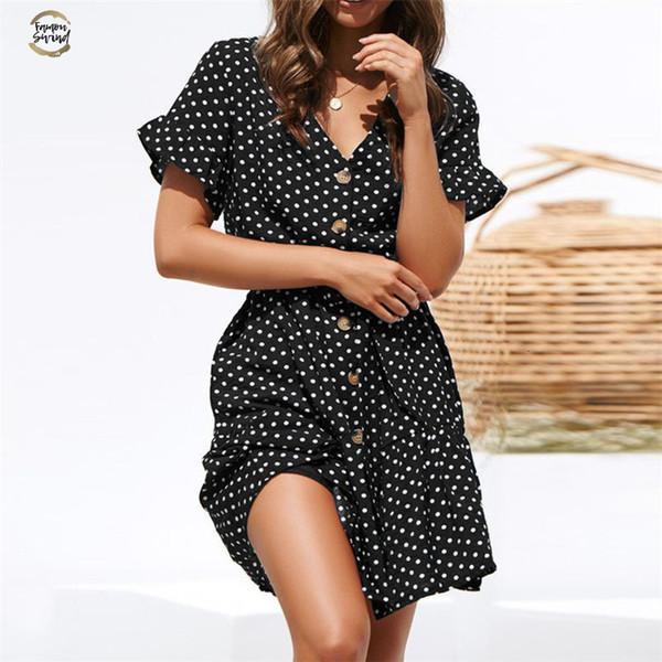 Платье лета женщин V-образным вырезом Узелок бинты Bodycon Сексуальное мини платье для женщин печати платье партии Vestidos Verano дизайнерскую одежду