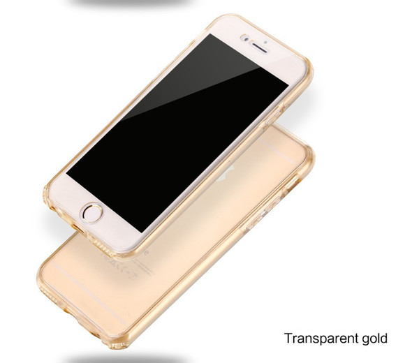 Soft TPU Flip Case For Apple iPhone 7 4.7 Inch Slim Fit Phone Protctive Clear Full Cover Cases Candy Color
