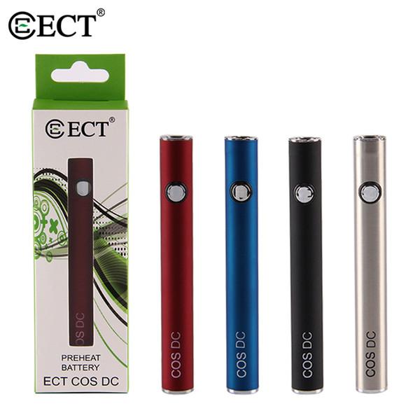 ECT COS DC Precalentamiento Batería Kit 450MAH Vape Pen Batería 510 Rosca Batería Voltaje variable Baterías con cargador USB E cigarrillo