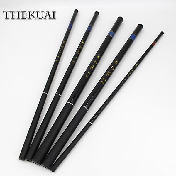 TheKuai Superhard 37T Ultra-light Stream Fishing Rod Power FRP Hand Pole Fishing Rod for Carp