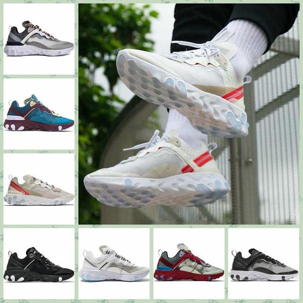Nereea87fa venda quente barato homens mulheres esportes ao ar livre sapatos epic element 87 oficial designer de luxo running sneakers respirável durável branco