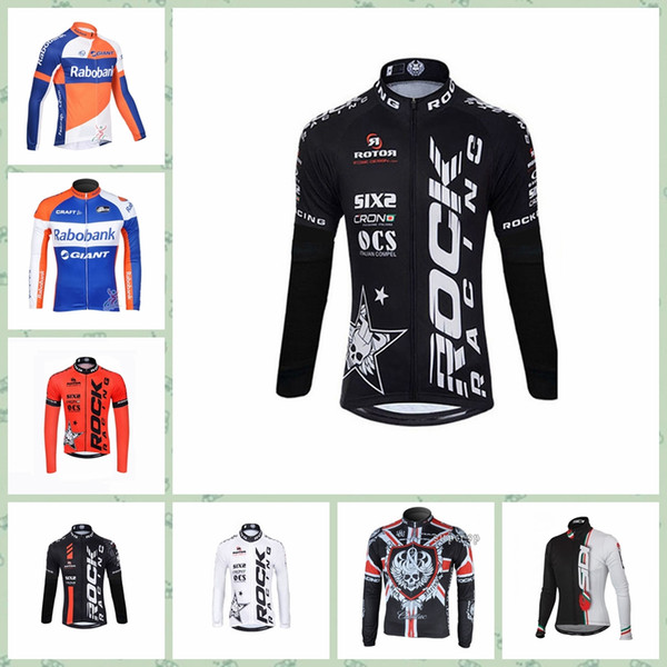 2019 RABOBANK SIDI ROCK RACING team Cycling long Sleeves jersey Cheap Spring and autumn Team Style bicicleta New Arrive Hot W30824