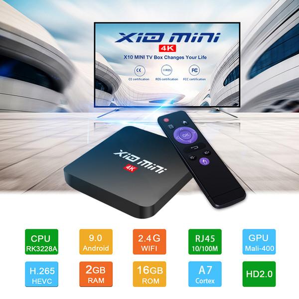 top popular Cheapest X10 MINI TV Box Android 9.0 2GB 16GB WiFi 4K Smart Android TV Box Set Top Box 2021