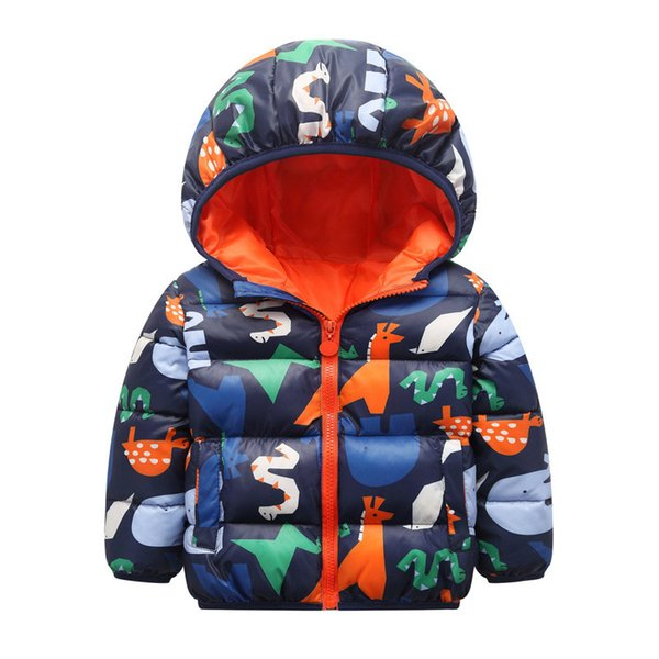 ACE LOVE 2018 boys Girls outerwear cotton winter Hooded baby Jacket Kids Coat children's clothing Thick Down & Parkas