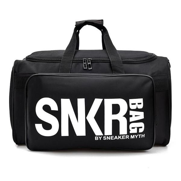 New SNKR Designer Duffle Bag 19ss Mens Womens Designer Bags Black White Large Capacity Travel Bag Gym Bags