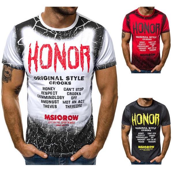 Magliette stampate da uomo Summer Letter T-shirt girocollo manica corta Fashion Quick Dry Homme Clothing