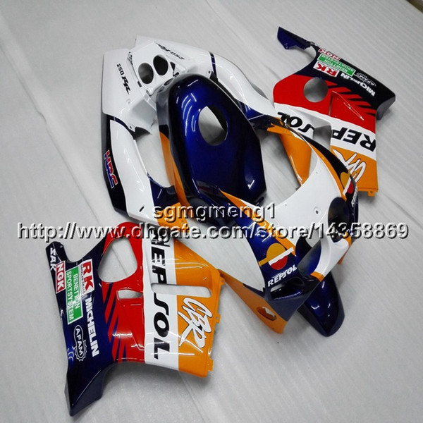 Gifts+Screws Injection mold repsol white motorcycle Fairings hull for HONDA CBR250RR MC22 1990-1999 ABS Plastic kit