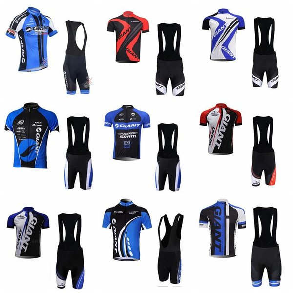 2018 GIANT Cycling Jerseys Short Sleeves Cycling Clothes Kit With 3D Gel Shorts Hombre Racing Mtb Bike Sport Quick Dry Ropa Ciclism 90716J