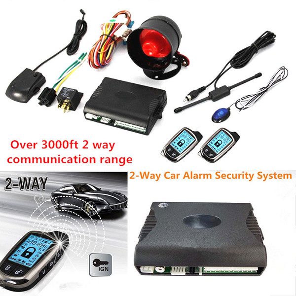 Remote Control 12V Motorcycle Car Anti-Theft Alarm High Power Security System Anti-Theft Alarm Portable Control Engine Start